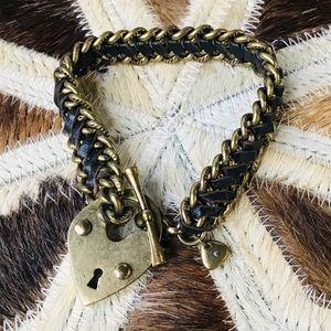 Fossil Brushed Gold Heart Locket Bracelet FALL